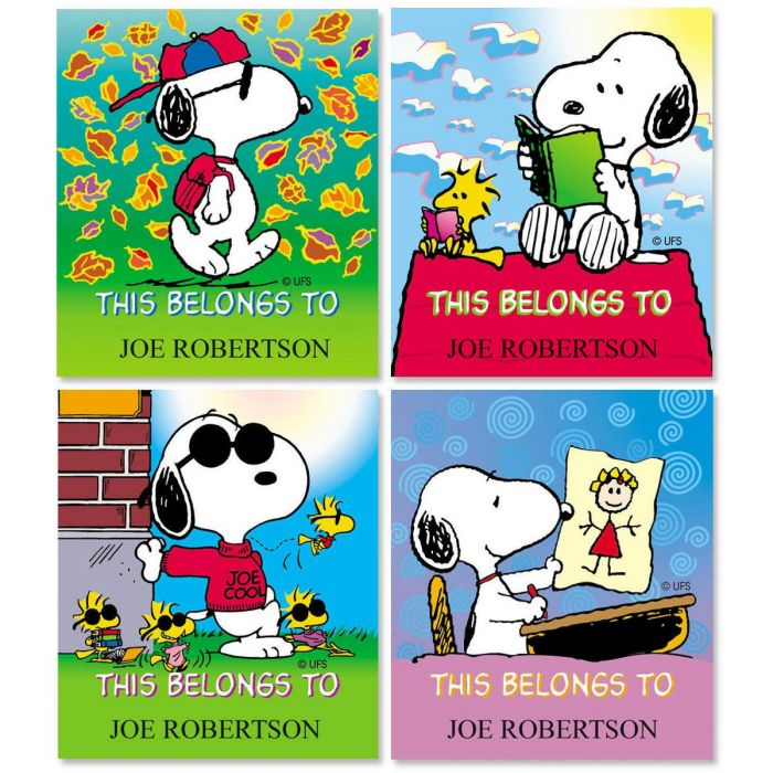 PEANUTS® Personalized Belongs To ID Labels  (4 Designs)