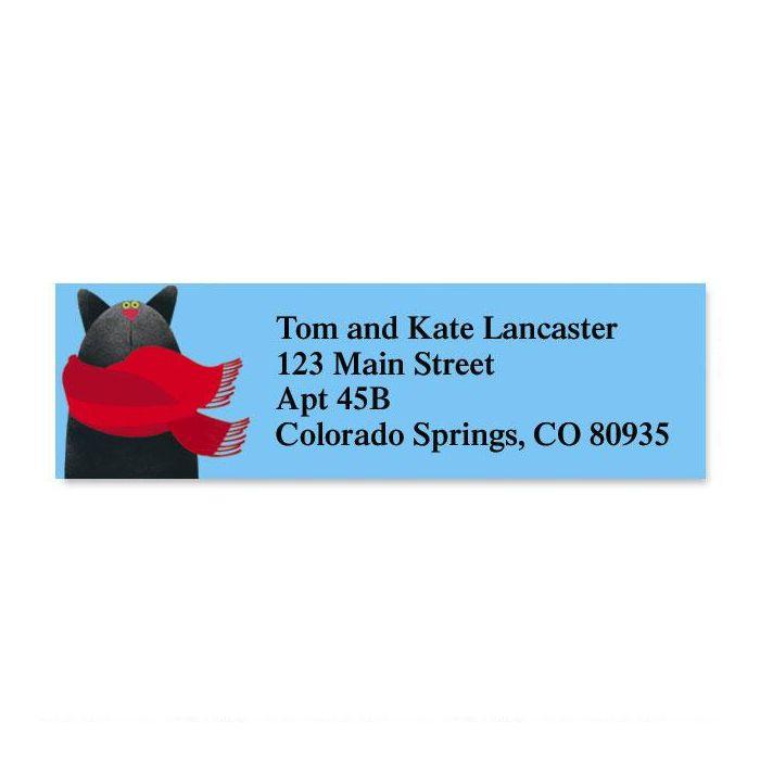Linnea's Year-Round Cats Classic Return Address Labels  (12 Designs)