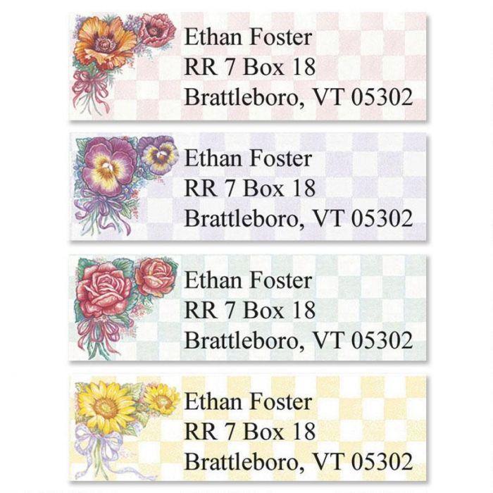 Garden Gingham  Classic Return Address Labels