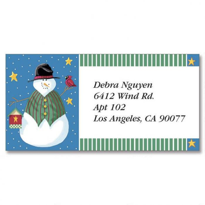 Vicky's Year-Round Border Return Address Labels  (12 Designs)