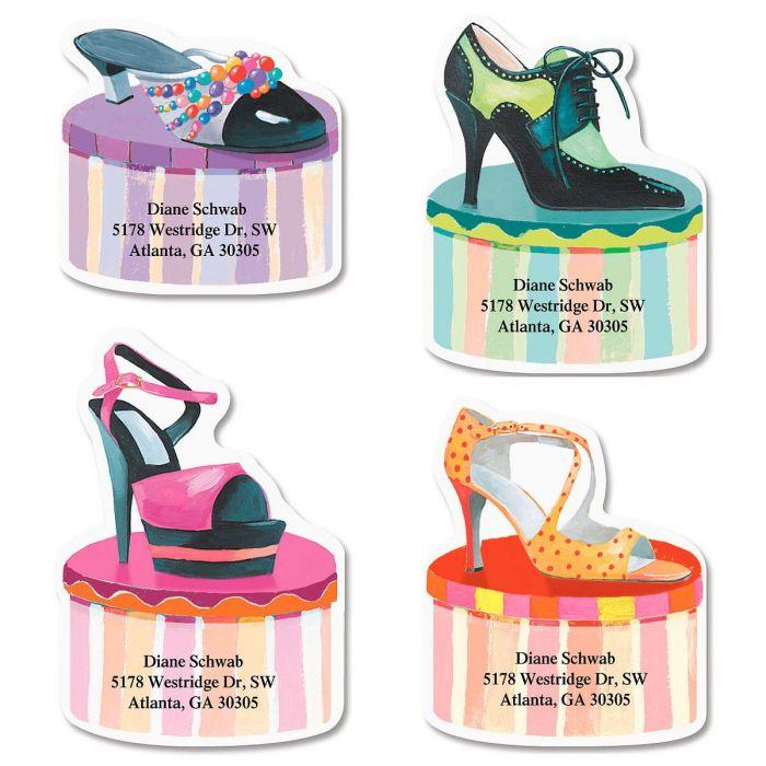 Footloose & Fancy Diecut Return Address Labels   (4 Designs)