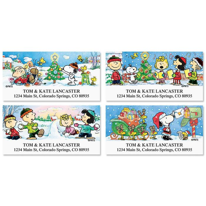 PEANUTS®  Holiday Fun Deluxe Return Address Labels  (4 Designs)