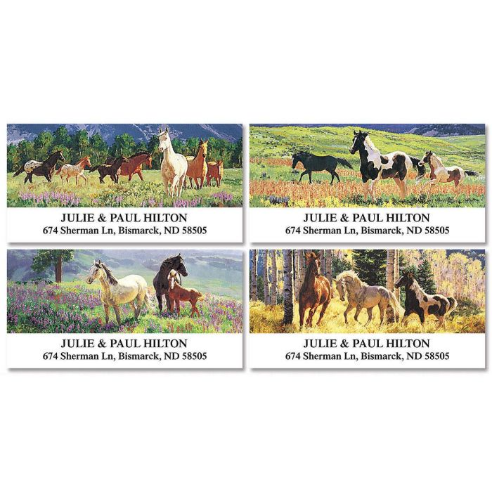 Beauty in the Wild Deluxe Return Address Labels  (4 Designs)