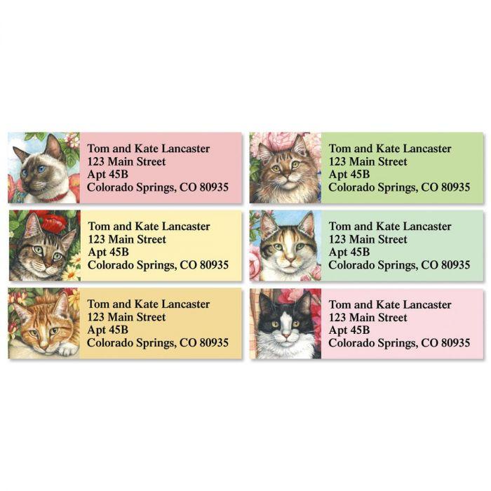 Feline Artistry Classic Return Address Labels  (6 Designs)