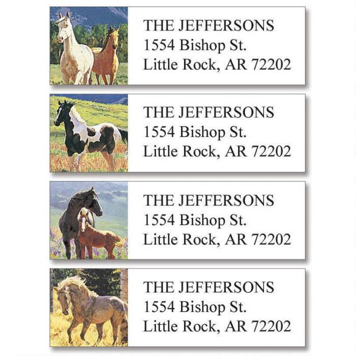 Beauty in the Wild Classic Return Address Labels  (4 Designs)