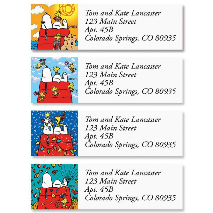 Snoopy™  Four Seasons Classic Return Address Labels  (4 Designs)