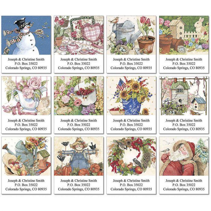 Sandi's Year-Round Select Return Address Labels  (12 Designs)