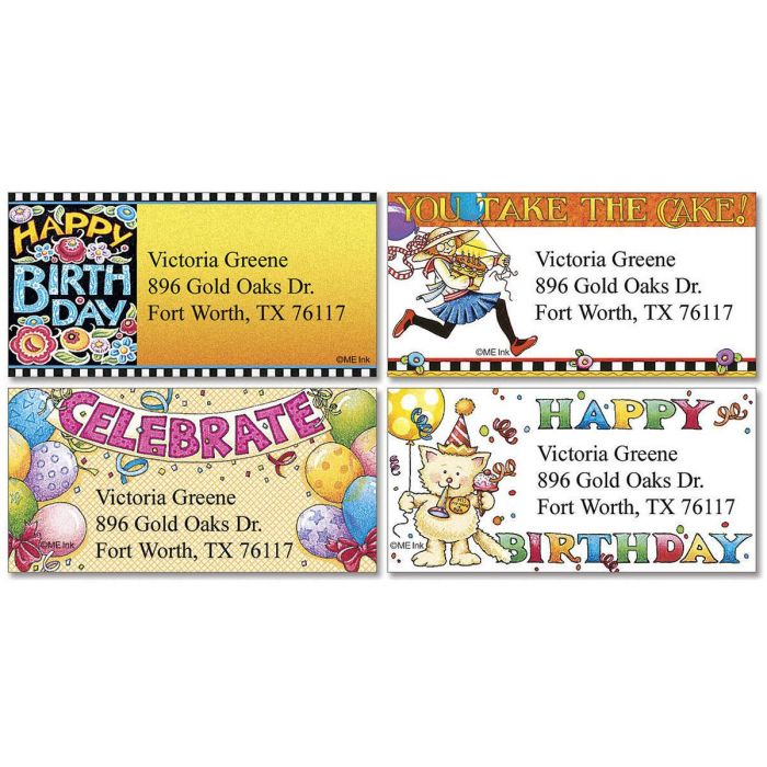 Celebrate with Mary Border Return Address Labels  (4 Designs)