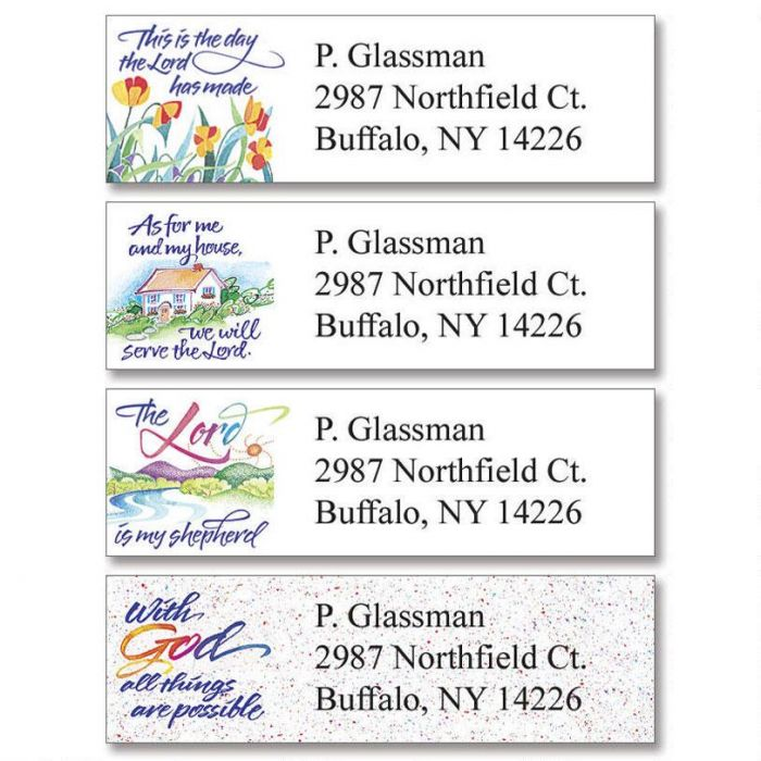 Verses of Virtue Classic Return Address Labels  (4 Designs)