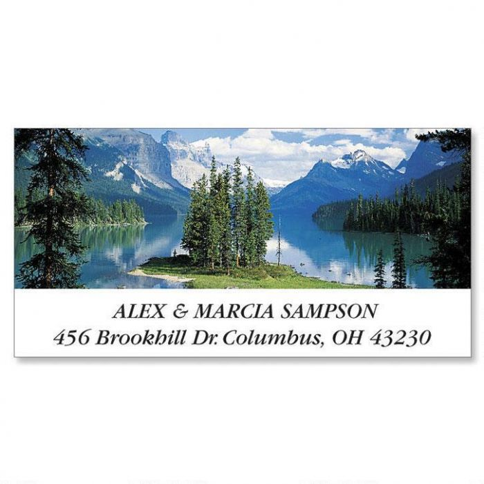 Majestic Peaks  Deluxe Return Address Labels   (6 Designs)