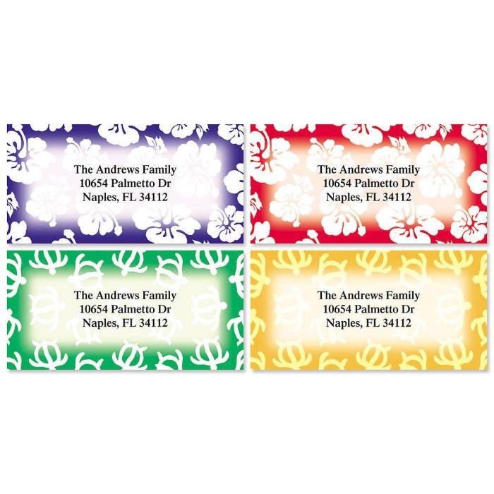 Aloha Border Return Address Labels  (4 Designs)