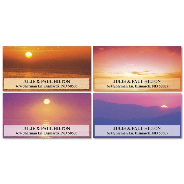 Sunset Splendor Deluxe Return Address Labels  (4 Designs)