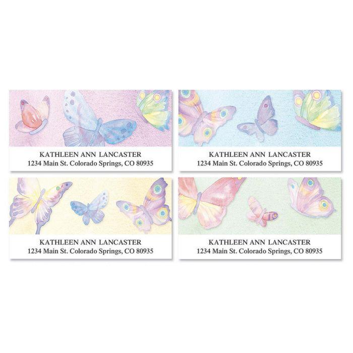 Watercolor Wings Deluxe Return Address Labels  (4 Designs)