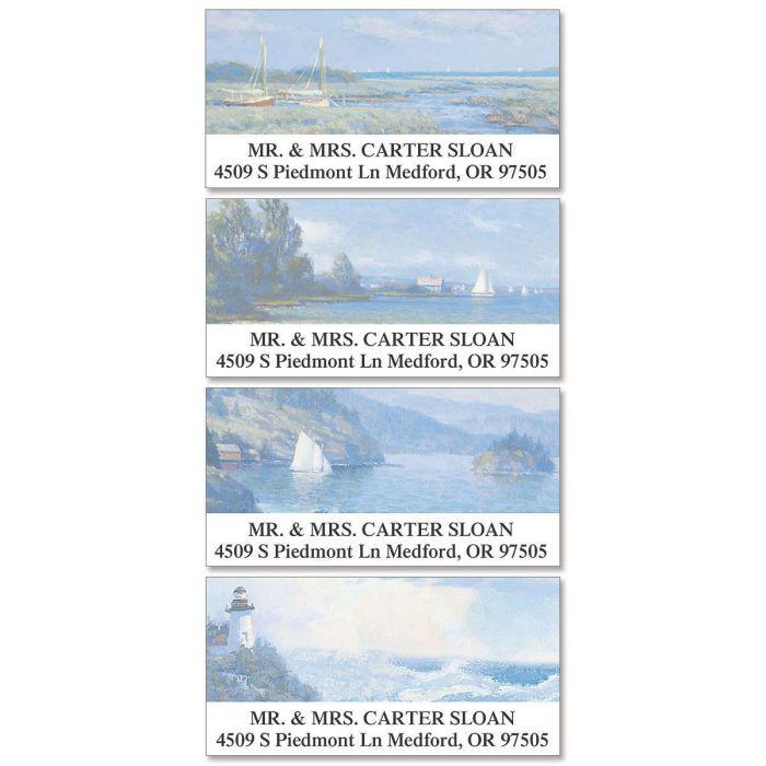 Seascape Deluxe Return Address Labels  (4 Designs)
