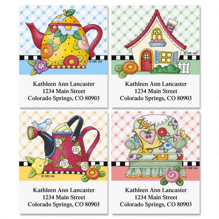 Mary Breit's Select Return Address Labels  (4 Designs)