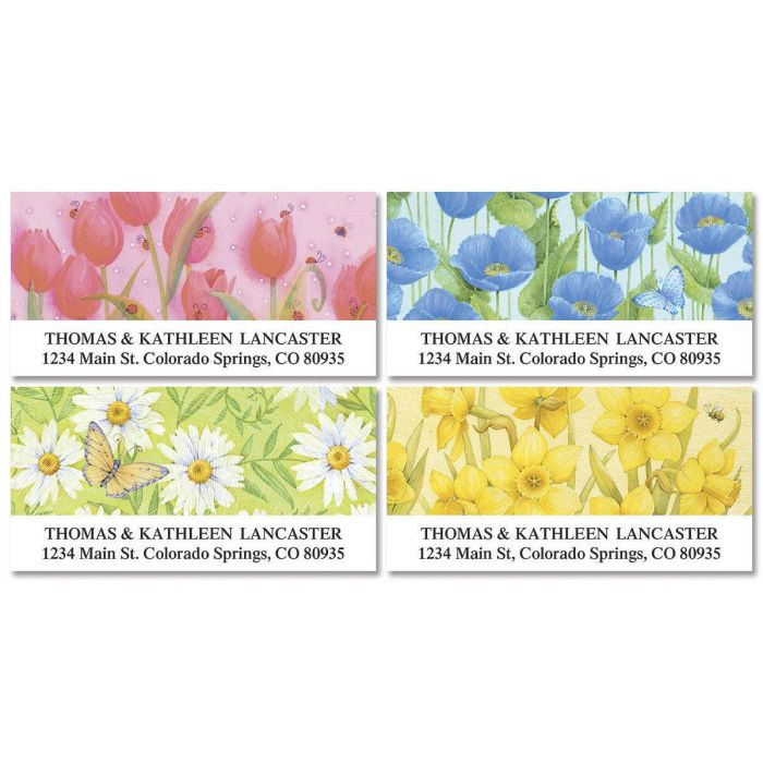 Springtime Delights  Deluxe Return Address Labels  (4 Designs)
