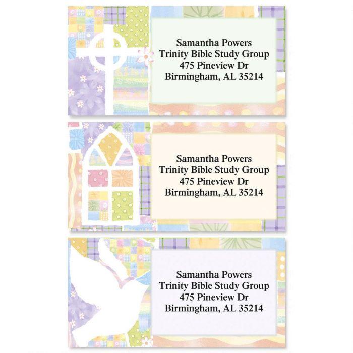 Faith Reflections Border Return Address Labels  (3 Designs)