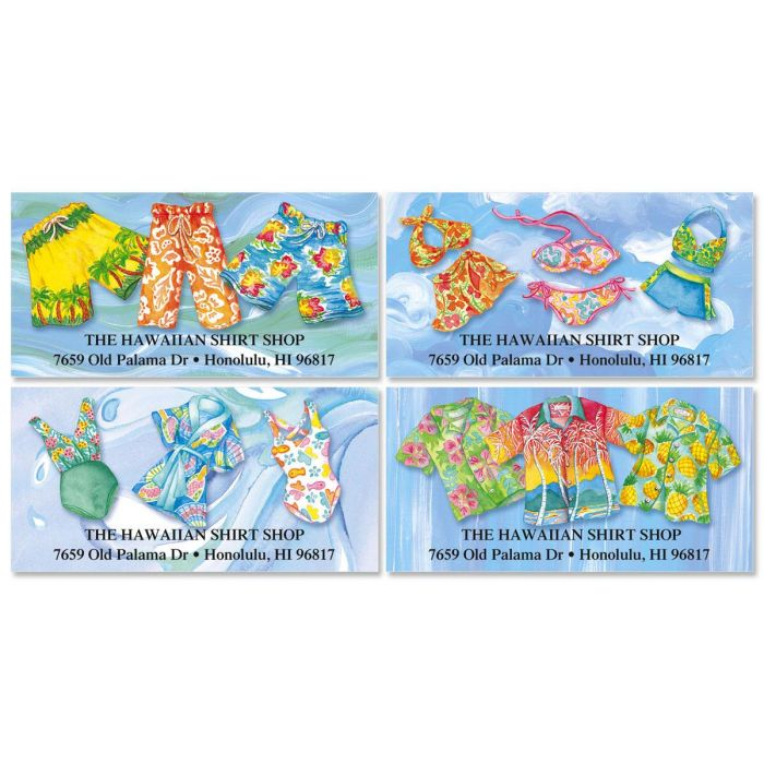 Tropical Style Deluxe Return Address Labels  (4 Designs)