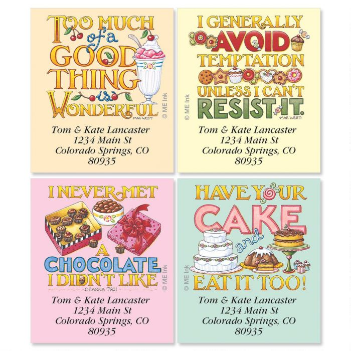 Mary's Decadence Select Return Address Labels  (4 Designs)