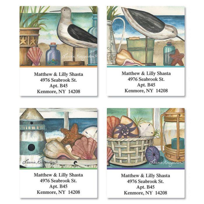 Seaside Memories Select Return Address Labels  (4 Designs)