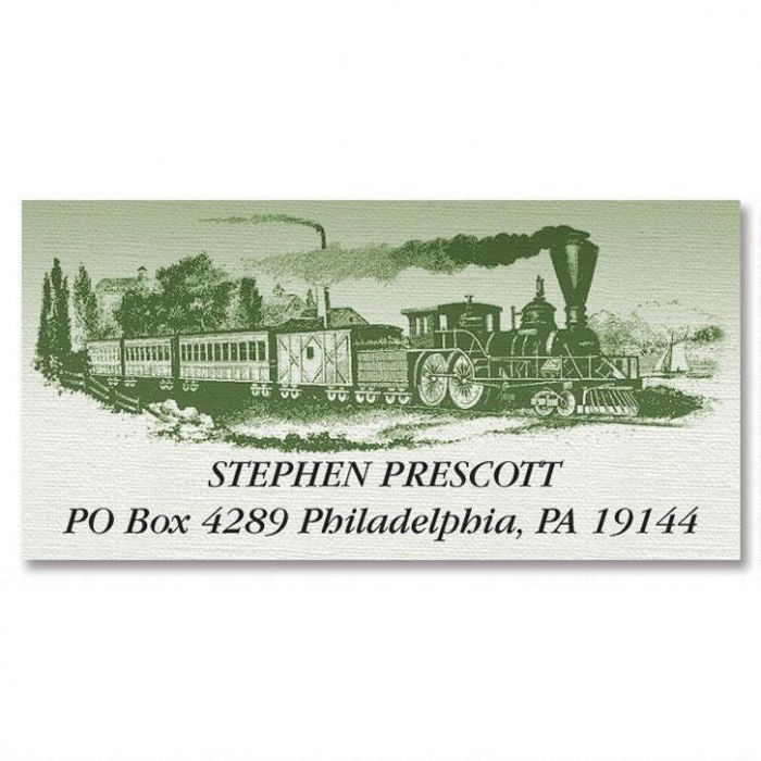 Riding The Rail  Deluxe Return Address Labels  (6 Designs)