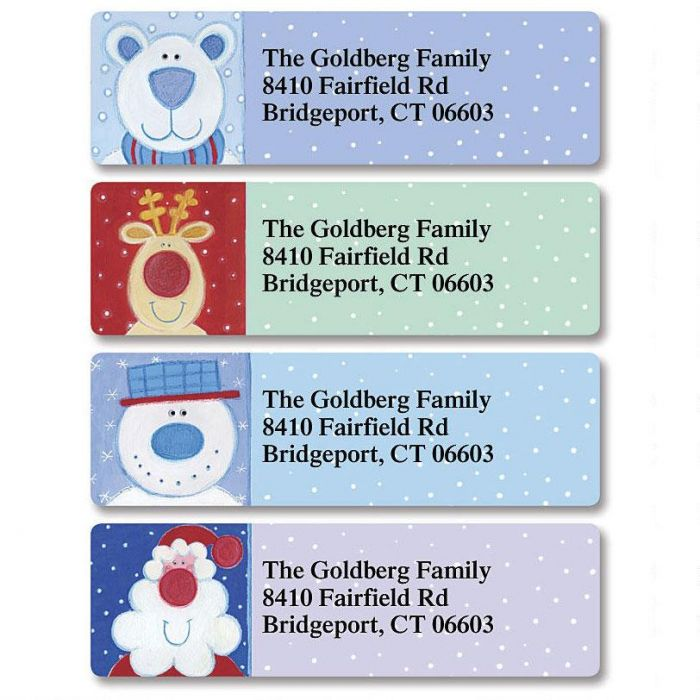 Nose for Christmas Classic Return Address Labels (4 Designs)