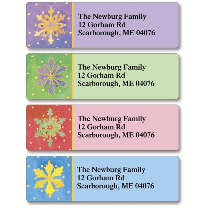 Watercolor Snowflake Classic Return Address Labels   (4 Designs)