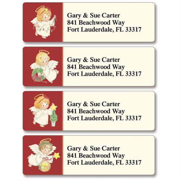 Baby Angels Classic Return Address Labels  (4 Designs)