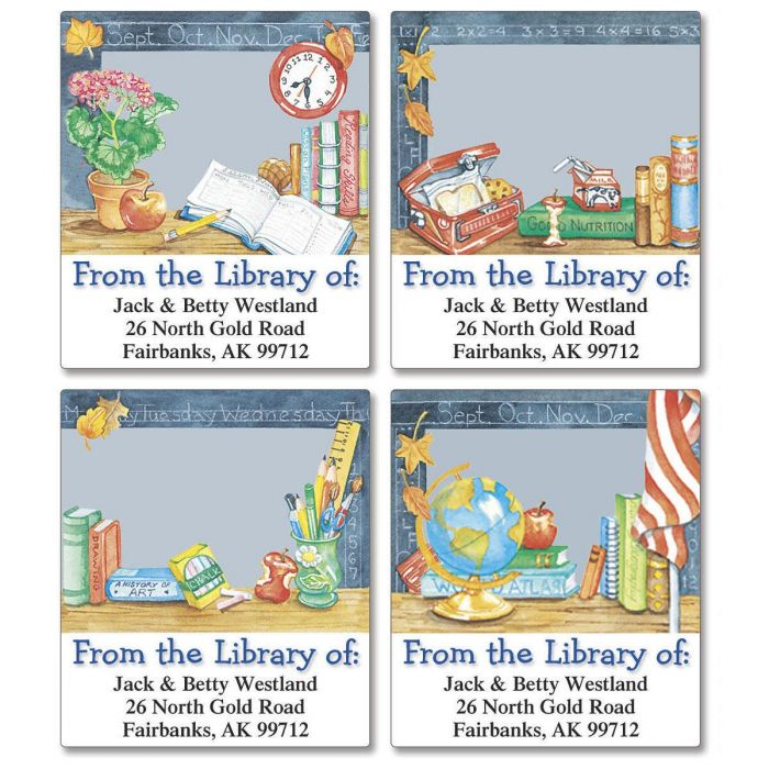 School Is Cool Bookplates   (4 Designs)