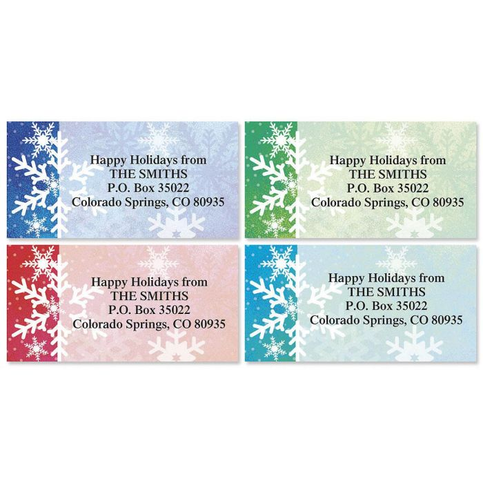 Snowflake Dream  Border Return Address Labels   (4 Designs)