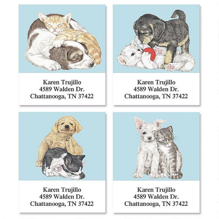 Best Friends by Linda K. Powell  Select Return Address Labels  (4 Designs)