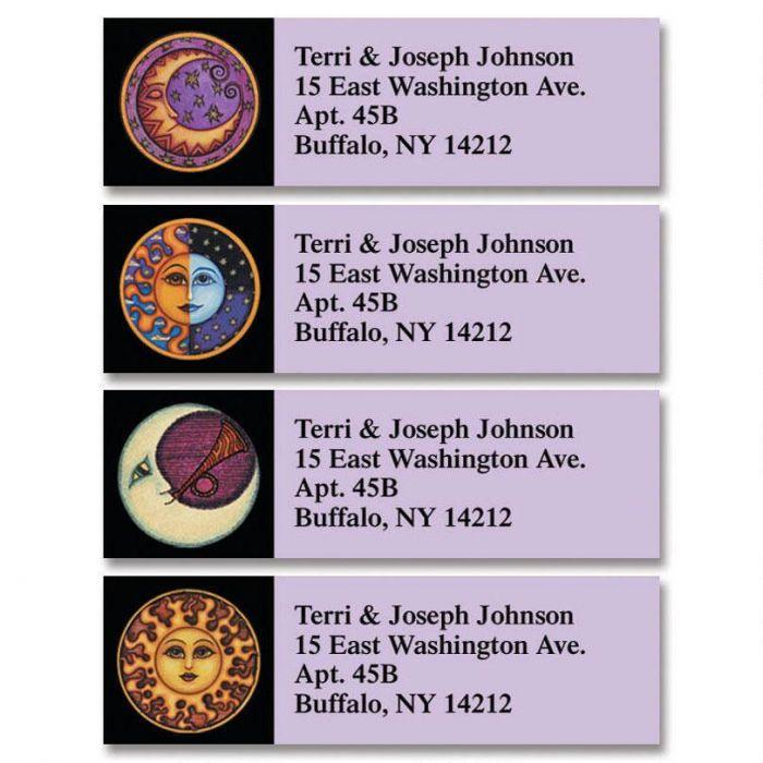 Sun & Moon Classic Return Address Labels  (4 Designs)