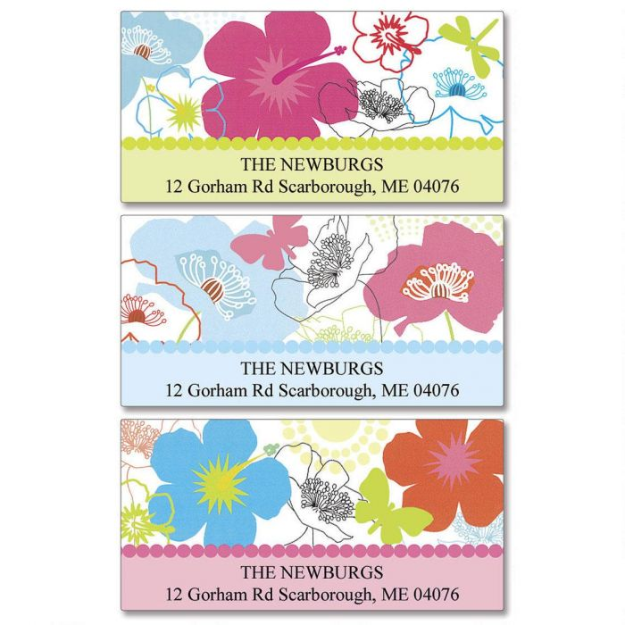 Floral Madness Deluxe Return Address Labels  (3 Designs)
