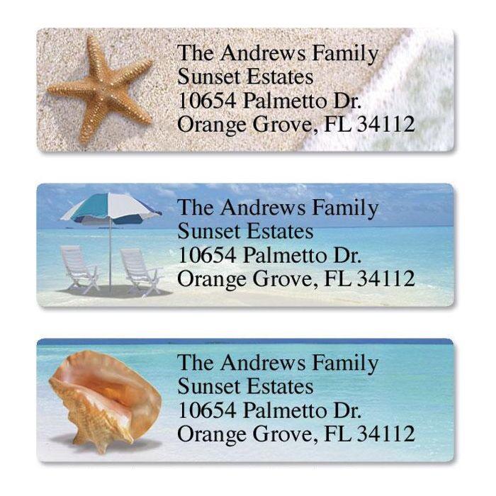 Calm Seas Classic Return Address Labels  (3 Designs)