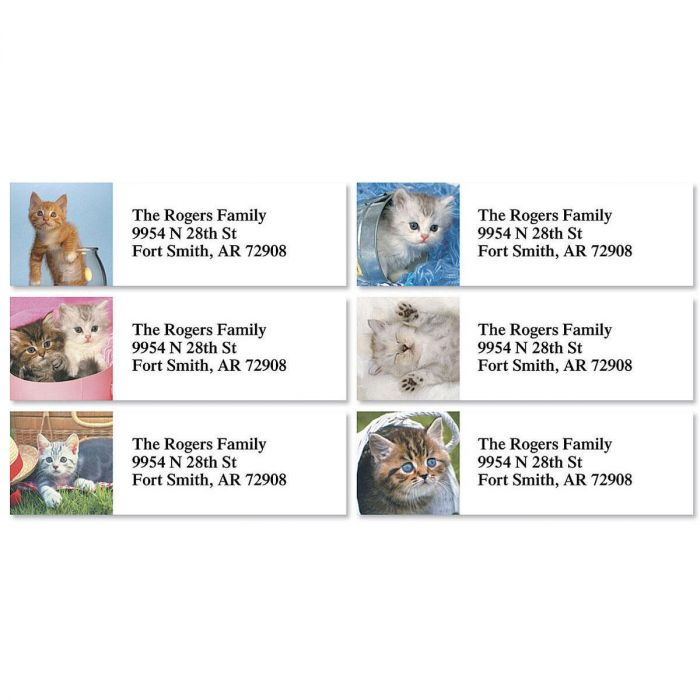 Kitty Kapers Classic Return Address Labels  (6 Designs)