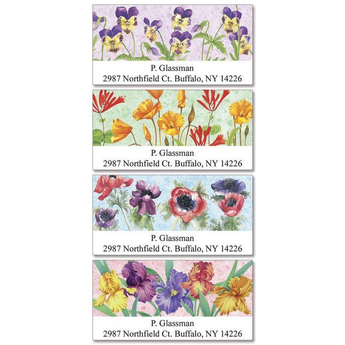 Dancing Gardens  Deluxe Return Address Label  (4 Designs)