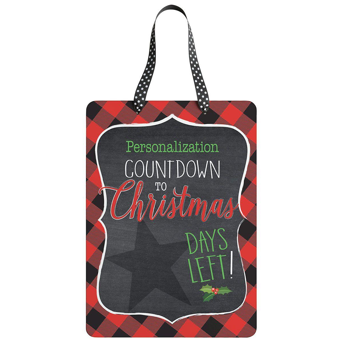 Custom Christmas Chalkboard Countdown