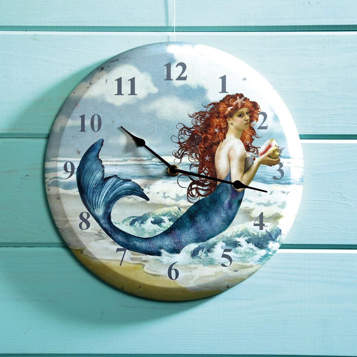 Printed Metal Mermaid Clock