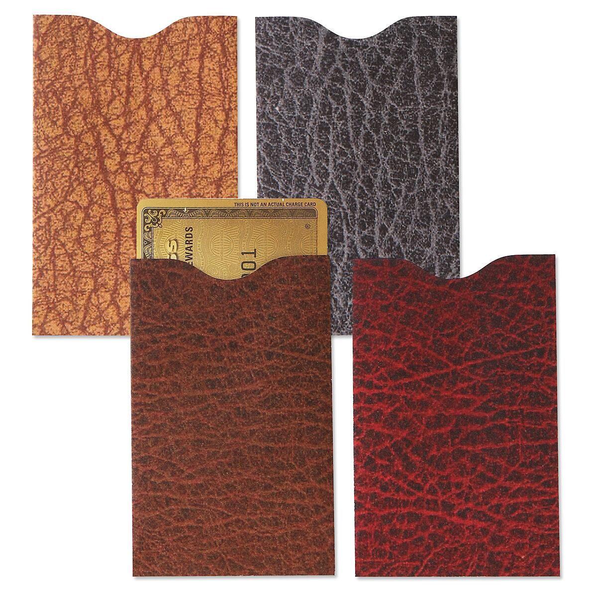 Leather Look RFID Credit Card Sleeves