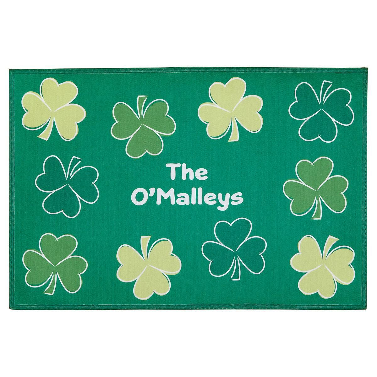 Shamrock Custom Doormat