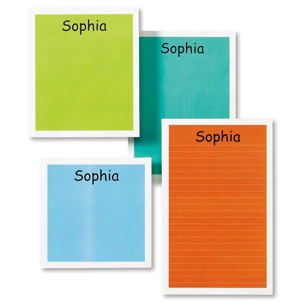 Multicolored Personalized  Memo Pads