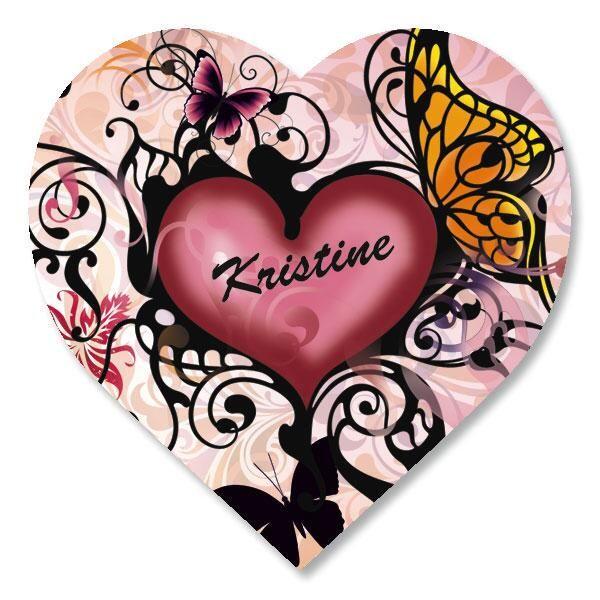 Heart and Butterflies Custom Stickers