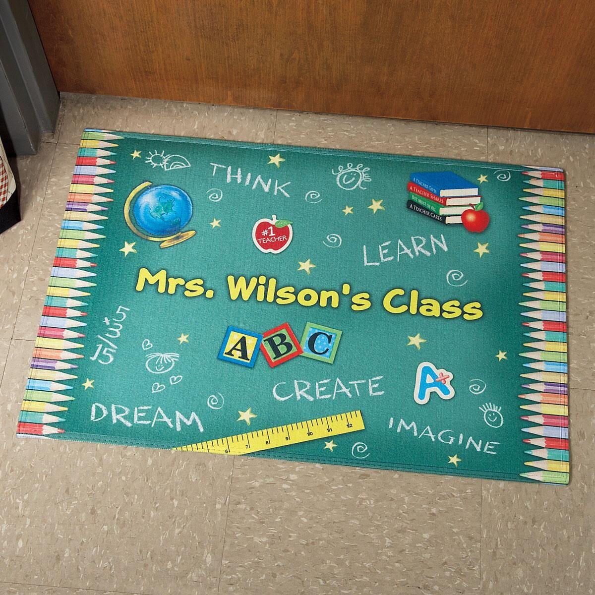 Teachers classroom custom doormat colorful images teachers classroom custom doormat kristyandbryce Images