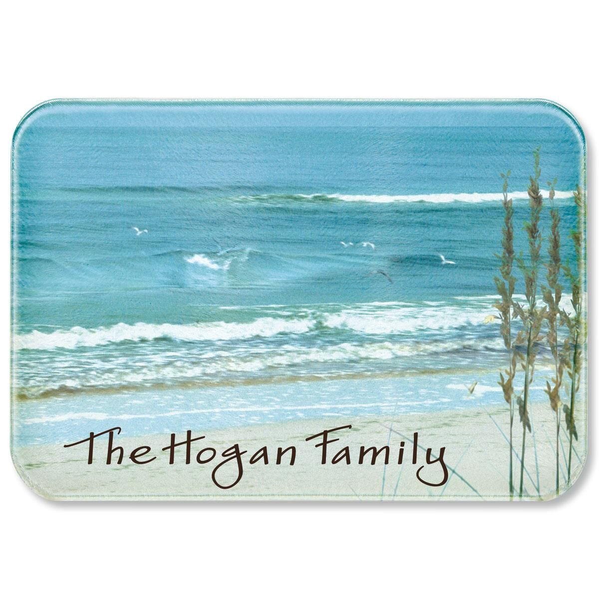 Seashore Welcome Personalized Custom Cutting Board