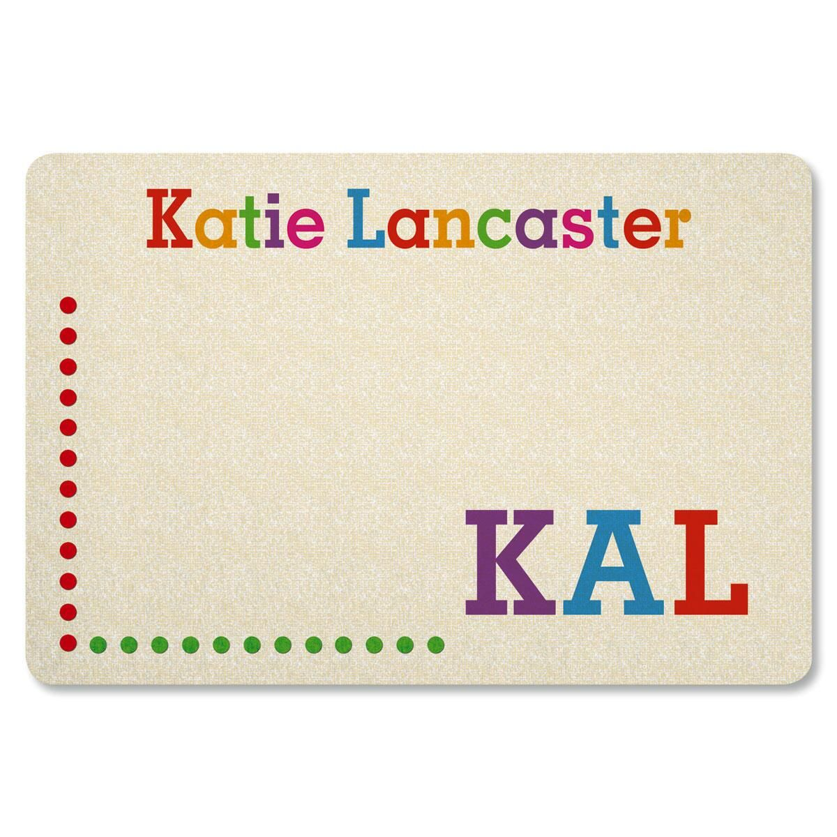 Whimsical Name Personalized Doormat