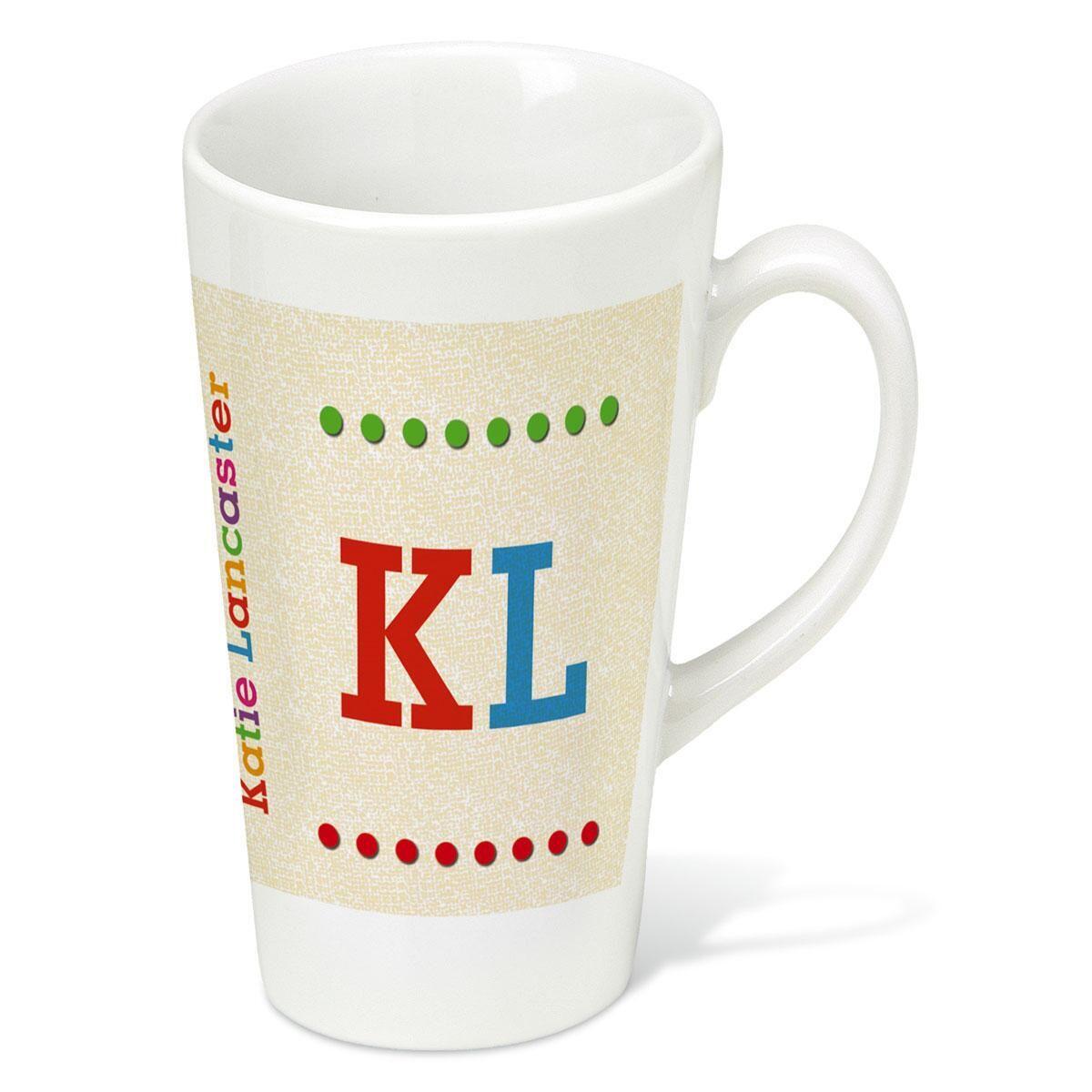 Whimsical Name Latt&#233 Personalized Mug