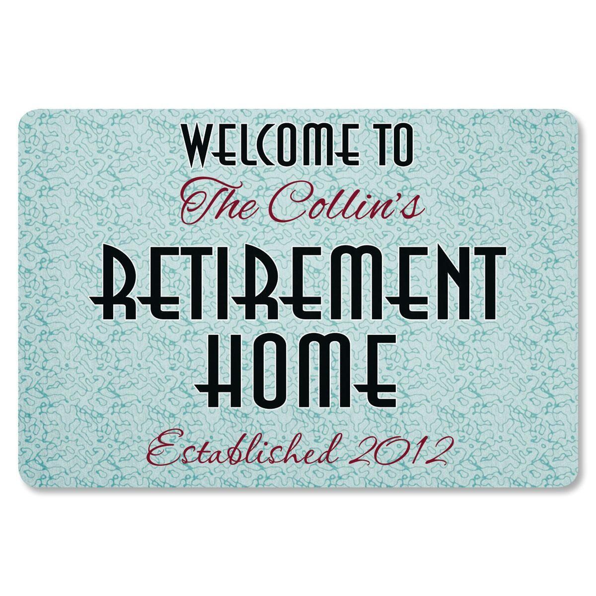 Retirement Home Custom Doormat