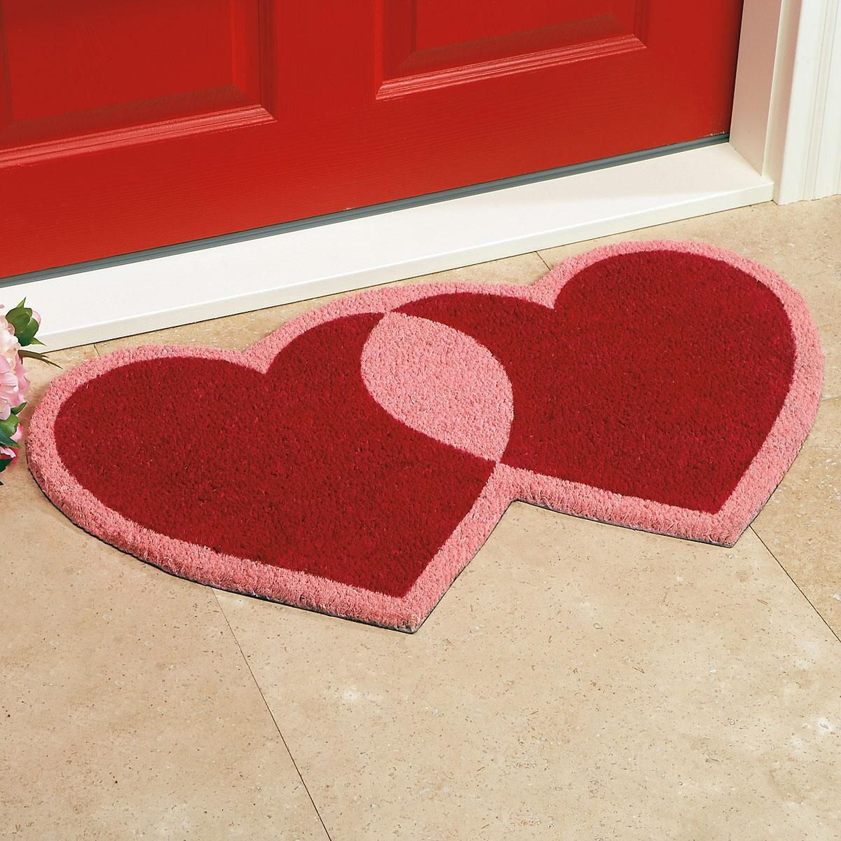 Heart-Shaped Diecut Coco Doormat