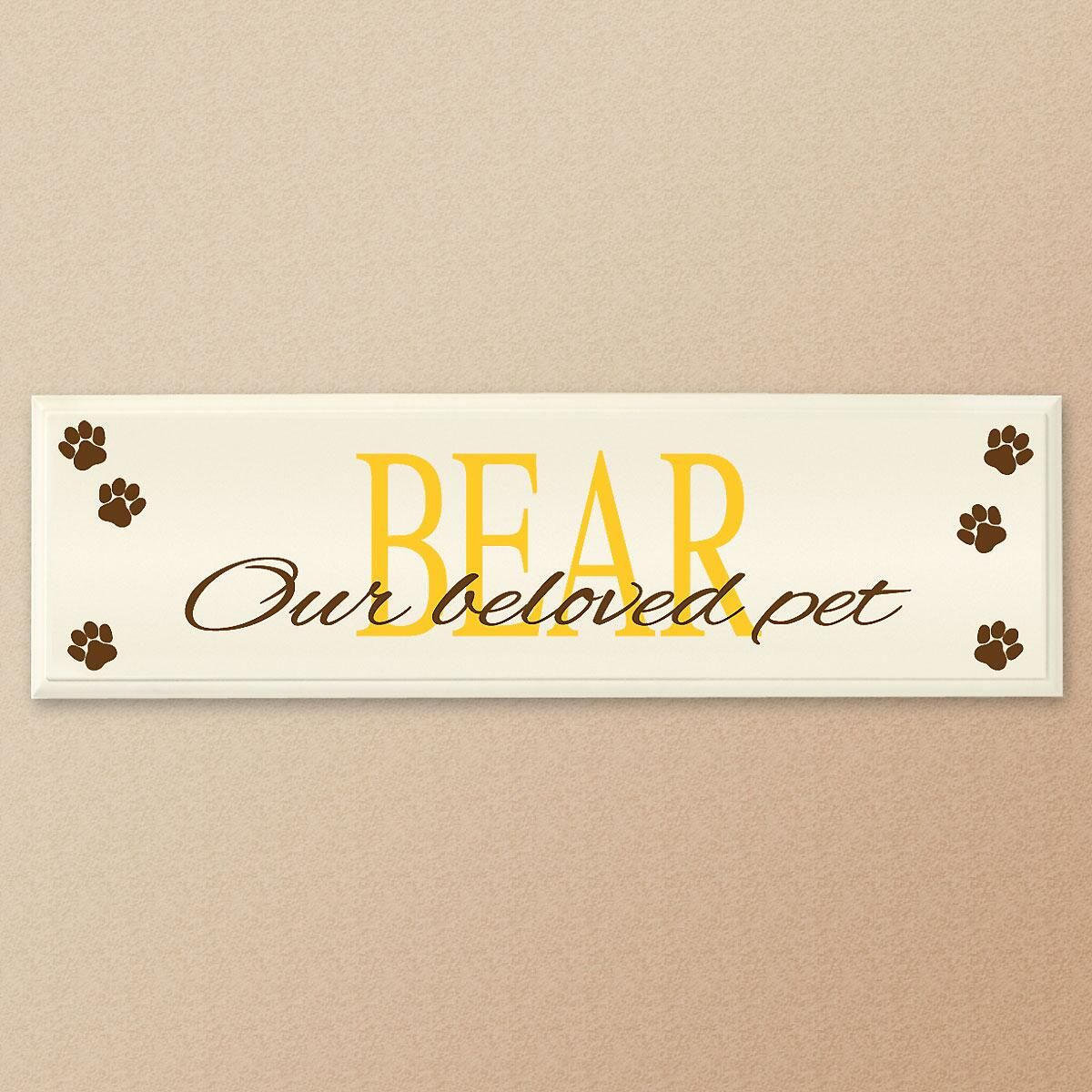 Our Beloved Pet Personalized Wooden Plaque