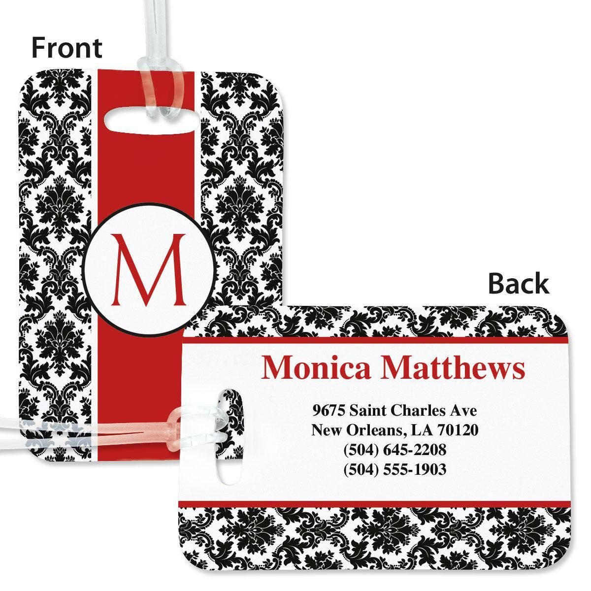 Alexandria Personalized Bag Tag